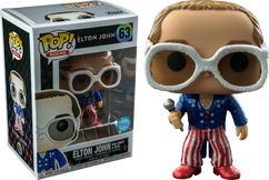Elton John - Elton John in Glitter Red, White and Blue Suit US Exclusive Pop! Vinyl Figure