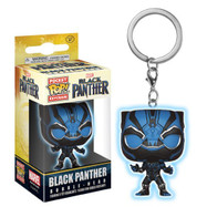 Black Panther - Blue Black Panther Glow Pop! Vinyl Keychain