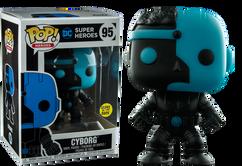 Justice League - Cyborg Silhouette Glow US Exclusive Pop! Vinyl Figure