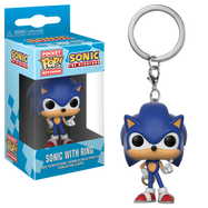 Sonic the Hedgehog - Sonic with Ring Pop! Vinyl Keychain