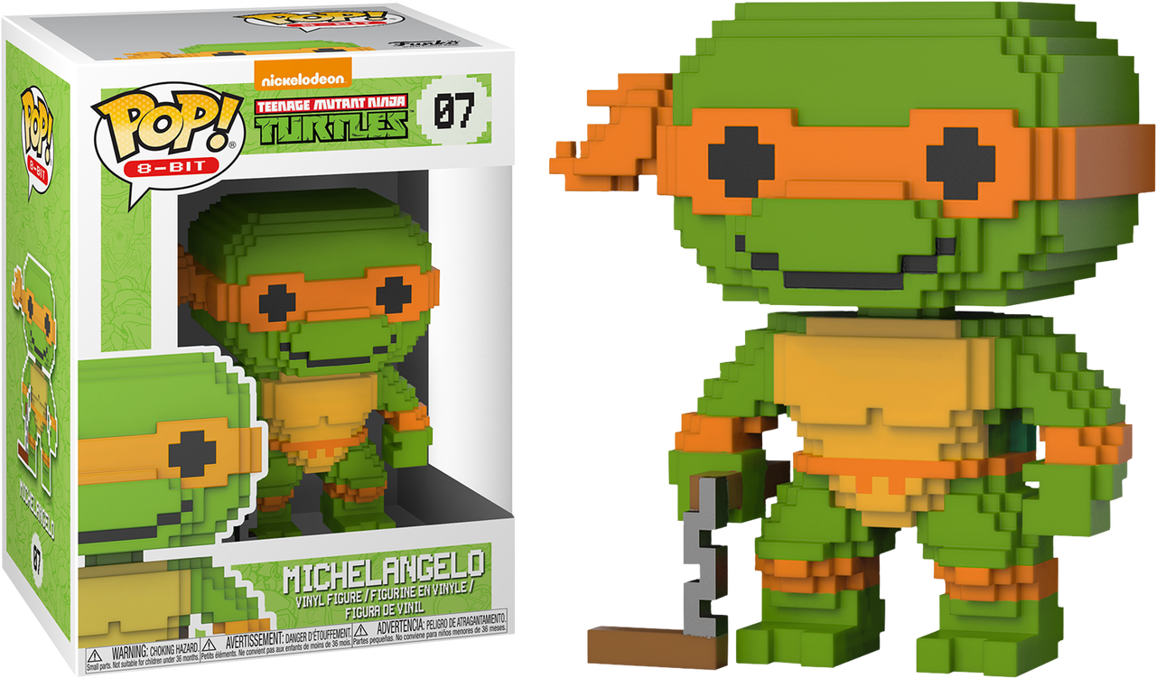 c126b5f0061 ... Teenage Mutant Ninja Turtles - Michelangelo 8-Bit Pop! Vinyl Figure.  Image 1