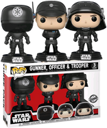 Star Wars - Death Star Gunner, Officer & Trooper US Exclusive Pop! Vinyl Figure 3-Pack