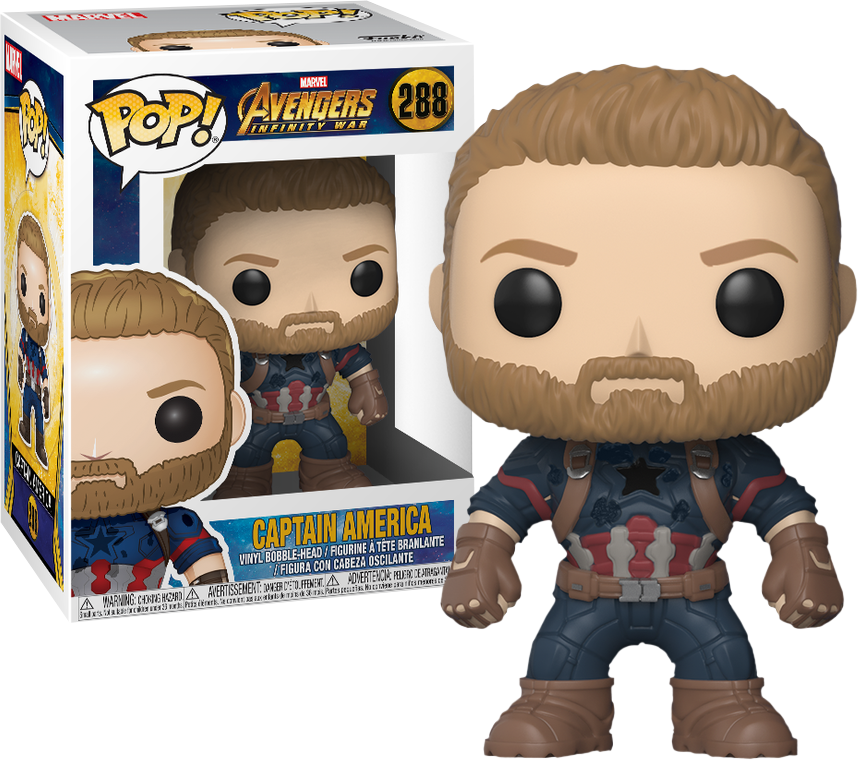 Avengers Infinity War Funko Pop! Captain America Figurine en Vinyle