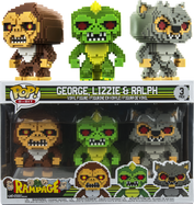 Rampage - George, Lizzie & Ralph 8-Bit US Exclusive Pop! Vinyl Figure 3-Pack