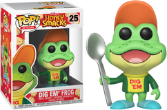 Kellogg's Honey Smacks - Dig 'Em Frog Pop! Vinyl Figure