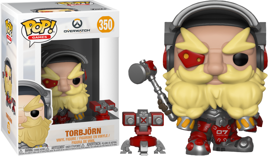 overwatch torbjorn pop vinyl figure