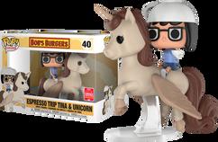 Bob's Burgers - Espresso Trip Tina & Unicorn SDCC18 Pop! Rides Vinyl Figure