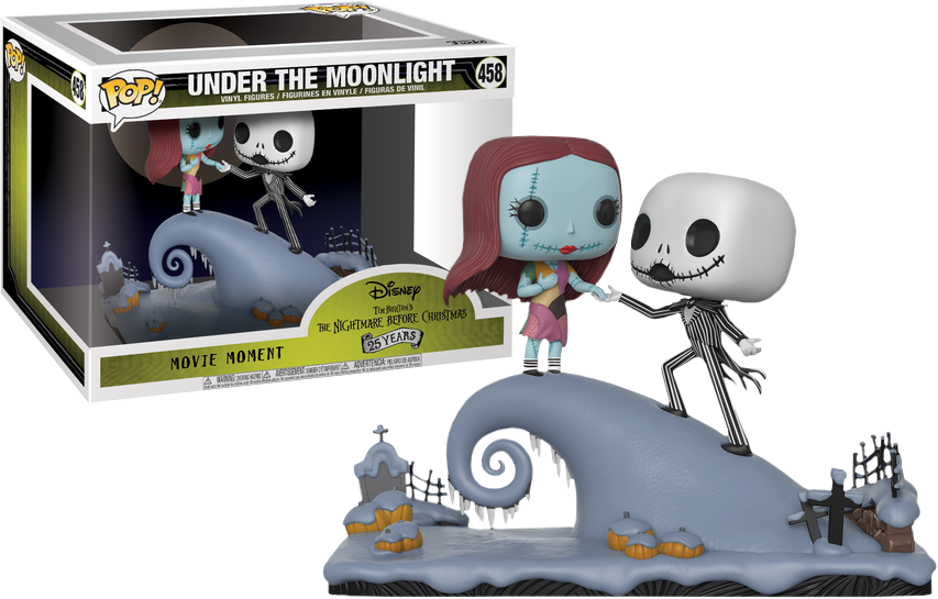 The Nightmare Before Christmas Jack And Sally Under The Moonlight Movie Moments Pop Vinyl Figure 2 Pack