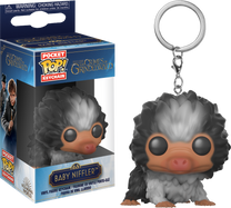 Fantastic Beasts 2: The Crimes of Grindelwald - Baby Niffler Black & Grey Pocket Pop! Vinyl Keychain