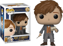 Fantastic Beasts 2: The Crimes of Grindelwald - Newt Scamander with Postcard US Exclusive Pop! Vinyl Figure