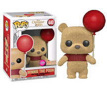 Christopher Robin - Winnie The Pooh with Balloon Flocked Pop! Vinyl Figure