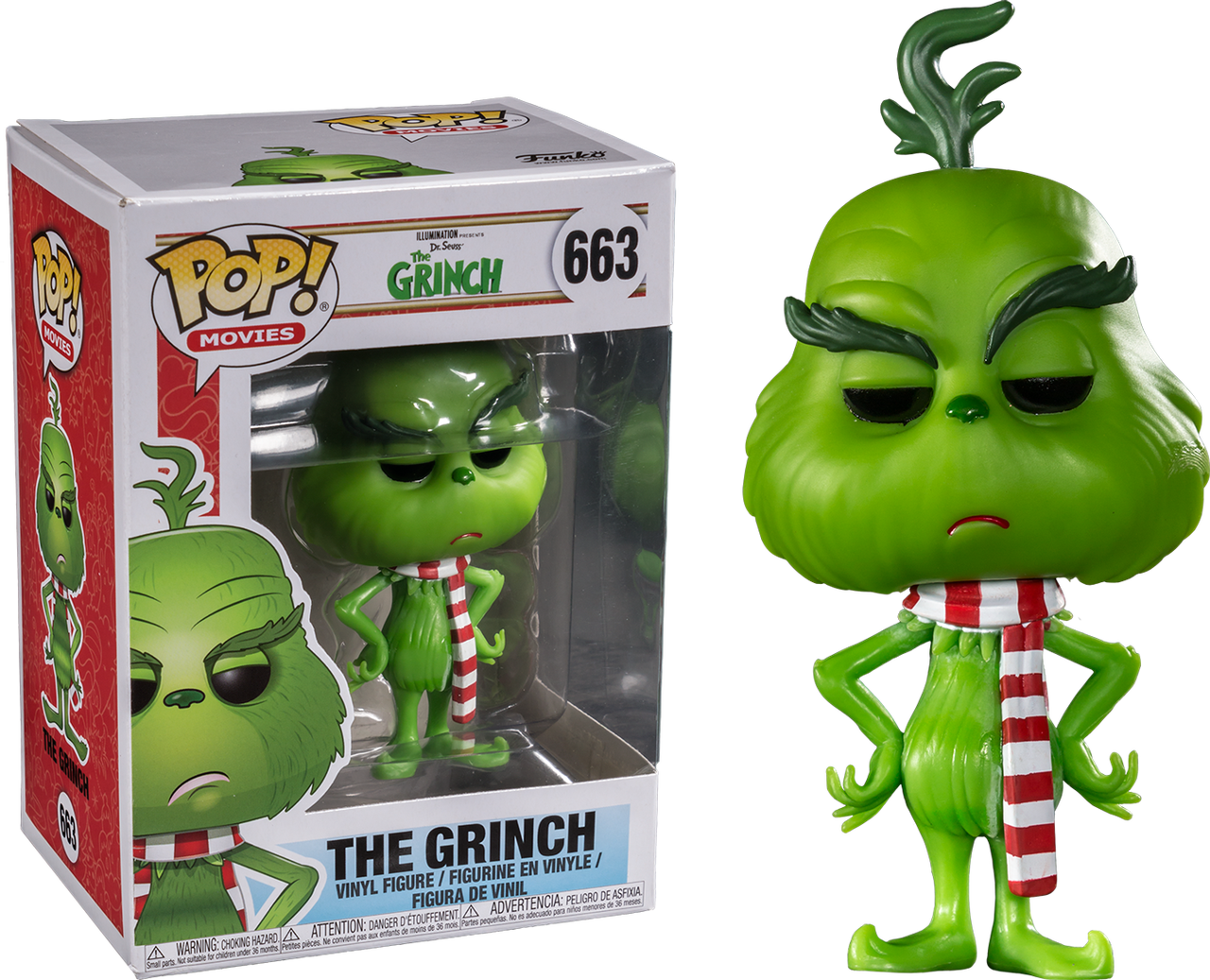 5867baf221a The Grinch (2018) - The Grinch with Scarf US Exclusive Pop! Vinyl ...