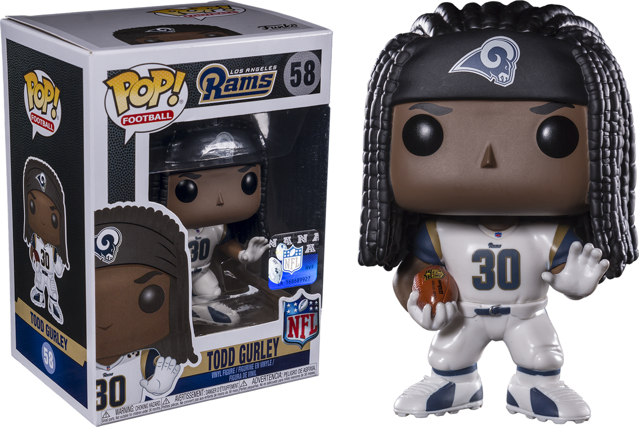Los Angeles Rams Todd Gurley Action Figure Funko POP NFL New