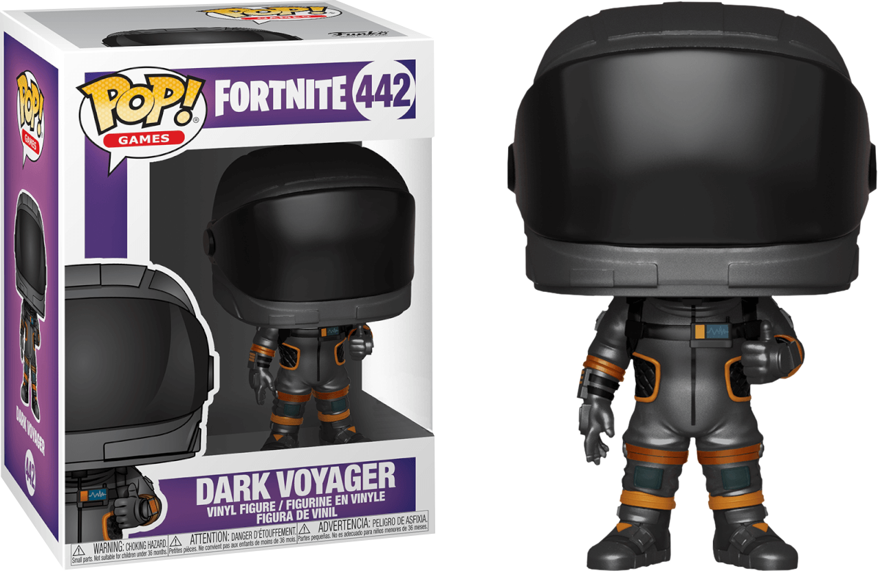 fortnite dark voyager pop vinyl figure image 1 - fortnite dark voyager transparent