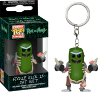 Rick and Morty - Pickle Rick in Rat Suit Pocket Pop! Vinyl Keychain