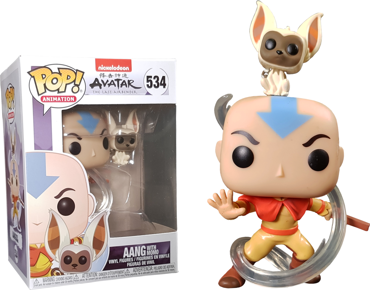 Funko POP Aang with Momo B07LD1DZ87 Animation Avatar