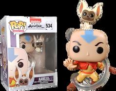 Avatar: The Last Airbender - Aang with Momo Pop! Vinyl Figure