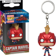 Captain Marvel (2019) - Captain Marvel Masked Pocket Pop! Vinyl Keychain