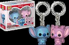 Lilo & Stitch - Stitch & Angel Pocket Pop! Vinyl Keychain 2-Pack
