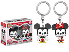 Disney - Mickey & Minnie Pocket Pop! Vinyl Keychain 2-Pack