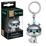 Rick and Morty - Snowball Pocket Pop! Vinyl Keychain
