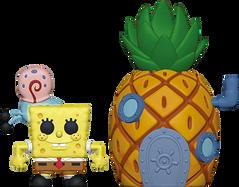 SpongeBob Squarepants - SpongeBob Squarepants with Pineapple House Pop! Town Vinyl Figure
