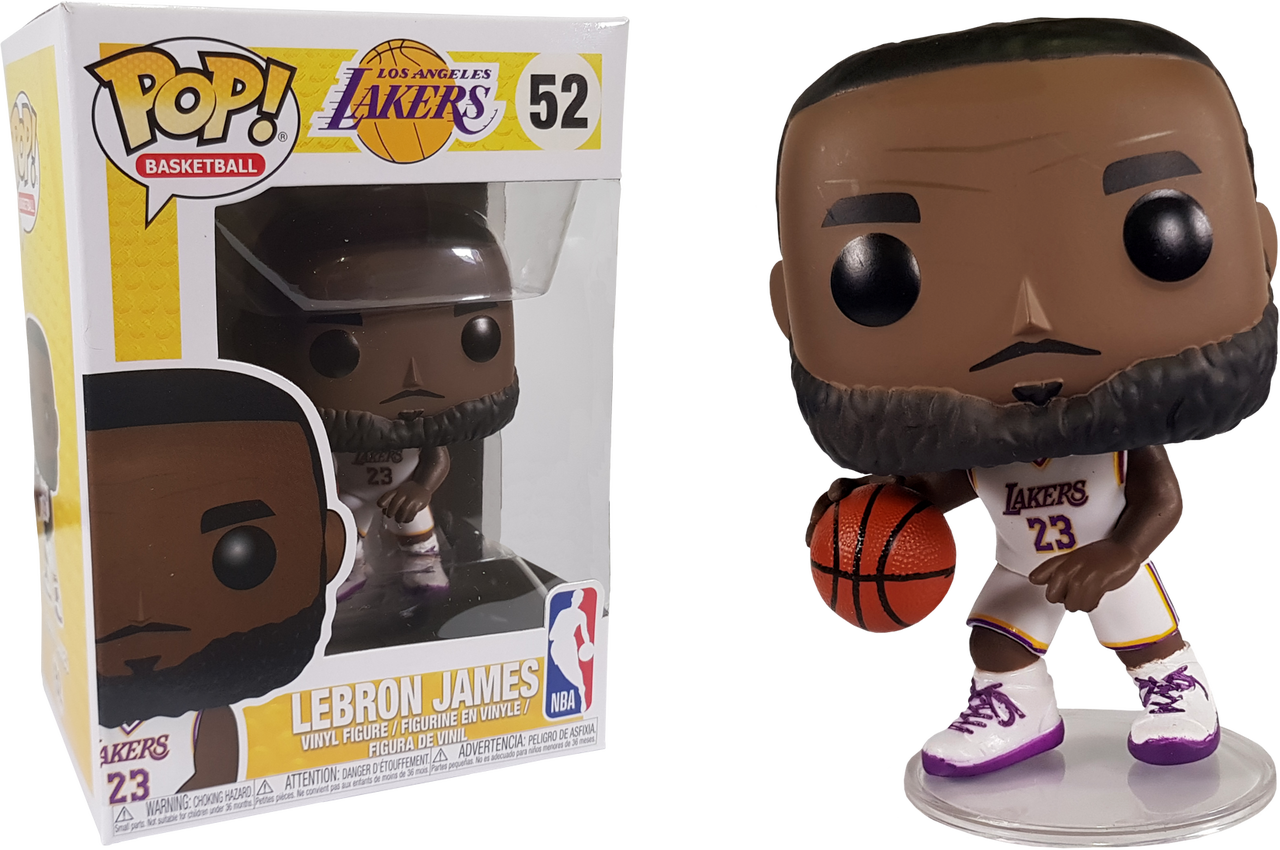 9edb42d327ea NBA Basketball - Lebron James L.A. Lakers White Uniform Pop! Vinyl ...