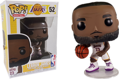 NBA Basketball - Lebron James L.A. Lakers White Uniform Pop! Vinyl Figure