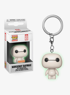 Big Hero 6 - Nursebot Baymax Glow in the Dark Pop! Vinyl Keychain