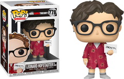 The Big Bang Theory - Leonard Hofstadter with Sarcasm Sign Pop! Vinyl Figure