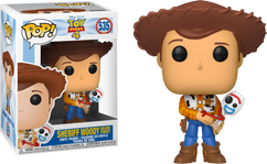 Toy Story 4 - Sheriff Woody holding Forky US Exclusive Pop! Vinyl Figure