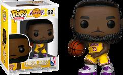 NBA Basketball - Lebron James L.A. Lakers Yellow Uniform US Exclusive Pop! Vinyl Figure