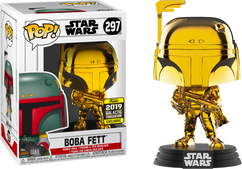 Star Wars - Boba Fett Gold Chrome 2019 Galactic Convention Exclusive Pop! Vinyl Figure