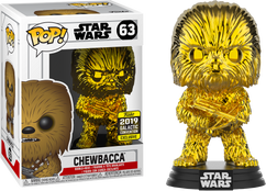 Star Wars - Chewbacca Gold Chrome 2019 Galactic Convention Exclusive Pop! Vinyl Figure