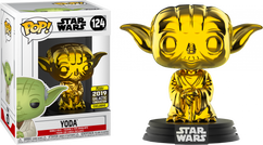 Star Wars - Yoda Gold Chrome 2019 Galactic Convention Exclusive Pop! Vinyl Figure