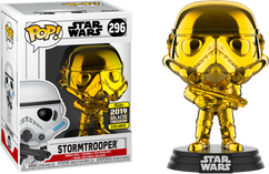 Star Wars - Stormtrooper Gold Chrome 2019 Galactic Convention Exclusive Pop! Vinyl Figure