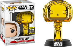 Star Wars - Princess Leia Gold Chrome 2019 Galactic Convention Exclusive Pop! Vinyl Figure