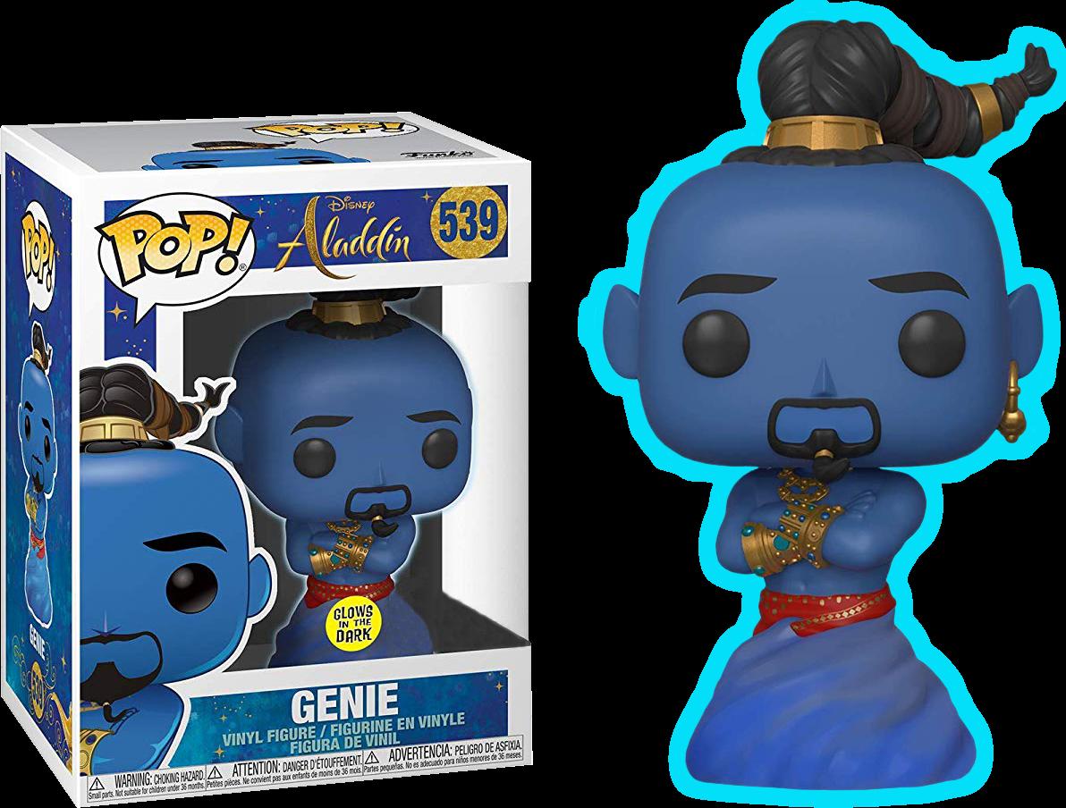Aladdin 2019 Genie Glow In The Dark Us Exclusive Pop Vinyl Figure