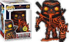 Spider-Man: Far From Home - Molten Man Glow in the Dark US Exclusive Pop! Vinyl Figure