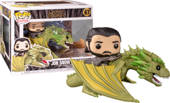Game Of Thrones - Jon Snow with Rhaegal Pop! Rides Vinyl Figure