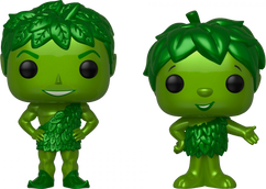 B&G Foods - Jolly Green Giant & Sprout Metallic US Exclusive Pop! Vinyl Figure 2-Pack