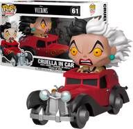 101 Dalmatians - Cruella De Vil in Car US Exclusive Pop! Rides Vinyl Figure