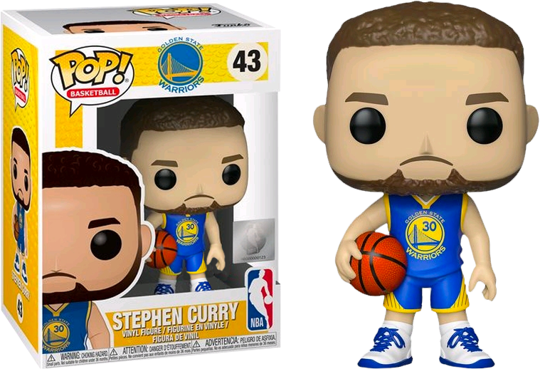 official photos aee18 2b3ab NBA Basketball - Stephen Curry Golden State Warriors Blue Jersey US  Exclusive Pop! Vinyl Figure