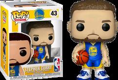 NBA Basketball - Stephen Curry Golden State Warriors Blue Jersey US Exclusive Pop! Vinyl Figure