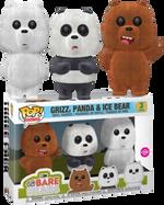 We Bare Bears - Ice Bear, Grizz & Panda Flocked US Exclusive Pop! Vinyl Figure 3-Pack