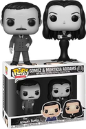 The Addams Family (1964) - Gomez & Morticia Addams Black and White Pop! Vinyl Figure 2-Pack