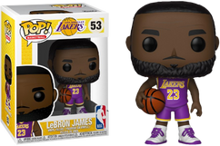 NBA Basketball - Lebron James L.A. Lakers Purple Uniform Pop! Vinyl Figure