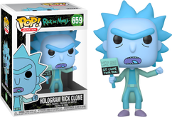 Rick and Morty - Hologram Rick Clone Pop! Vinyl Figure