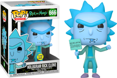 Rick and Morty - Hologram Rick Ignored Glow in the Dark Pop! Vinyl Figure