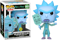 Rick and Morty - Hologram Rick We See Glow in the Dark Pop! Vinyl Figure